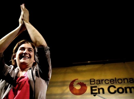 epa04766739 A picture made available 25 May 2015 shows 'Barcelona en Comu' leader Ada Colau reacting after winning the municipal elections in Barcelona, Catalonia, northeastern Spain, late 24 May 2015. Colau will become the first mayoress in Barcelona. Spanish Prime Minister Mariano Rajoy's ruling People's Party (PP) suffered a setback in Spain's crucial regional and local elections on 24 May even as the conservative party remains the strongest party overall. The anti-austerity party Podemos (We Can) did well in the key cities of Madrid and Barcelona. A coalition led by the party secured the most votes in Barcelona, while the Podemos' alliance fell just one vote behind PP in Madrid, leaving the conservatives in danger of losing control of the symbolically mayor's office in Madrid for the first time since 1991.  EPA/ALBERTO ESTEVEZ