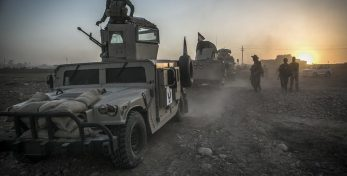 epa05588278 (FILE) A file picture dated 14 August 2016 shows Peshmerga forces leaving a base as they take part in an operation to liberate several villages from the control of the so-called Islamic State (IS or ISIS) militant group, southeast of Mosul, Iraq. Iraqi Prime Minister Haider al-Abadi said on 17 October 2016, that Iraqi forces started their military offensive to recapture the city of Mosul from IS. The operation, led by Kurdish Peshmerga, Iraqi government forces and allies, is backed by the US-led coalition. Iraq's second largest city, Mosul, fell under the jihadist militant group's control in June 2014.  EPA/ANDREA DICENZO
