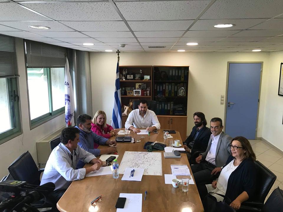 Αποτέλεσμα εικόνας για Επίσκεψη του Περιφερειάρχη Φ. Σπανού στην  Π.Ε. Βοιωτίας και συνάντηση με τους Δημάρχους
